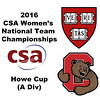 2016 CSA Team Championships -  Howe Cup: Sabrina Sobhy (Harvard) and Rachel Scherman (Cornell)