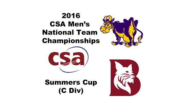 2016 CSA Team Championships -  Summers Cup: Ahmed Hatata (Bates) and John Fitzgerald (Williams)