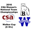 2016 CSA Team Championships - Walker Cup: Kate Loftus (Wellesley) and Zoe Wood (Bowdoin)