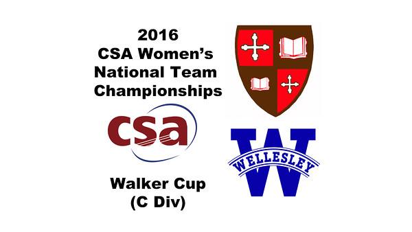 2016 CSA Team Championships -  Walker Cup: Zoe Kagan (St. Lawrence) and Rhea Advani (Wellesley)