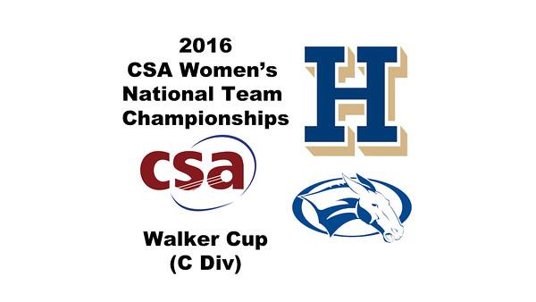 2016 CSA Team Championships - Walker Cup: Florence Robinson (Colby) and Marina Hartnick (Hamilton)