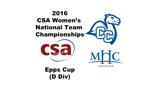 2016 CSA Team Championships - Epps Cup: Brandy Williamson (Mount Holyoke) and Ashley Arthur (Conn College)