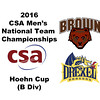 2016 CSA Team Championships -  Hoehn Cup: Omar El Atmas (Drexel) and Thomas Blecher (Brown)