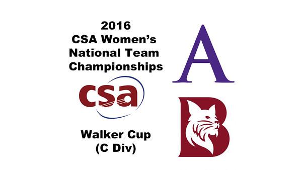 2016 CSA Team Championships -  Walker Cup: Priya Sinha (Amherst) and Hannah Conner (Bates)