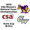 2016 CSA Team Championships -  Kurtz Cup: Charlotte Walsh (Williams) and Brooke Feldman (George Washington)