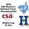 2016 CSA Team Championships -  Walker Cup: Rafiatou Ouro-Aguy (Hamilton) and Hannah Burns (Tufts)