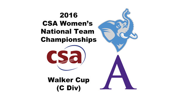 2016 CSA Team Championships - Walker Cup: Paget Stanco (Tufts) and Rachael Ang (Amherst)