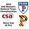 2016 CSA Team Championships -  Howe Cup: Yan Xin Tan (Penn) and Rachel Leizman (Princeton)
