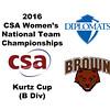 2016 CSA Team Championships -  Kurtz Cup: Fiona Murphy (F&M) and Skylar Murphy (Brown)