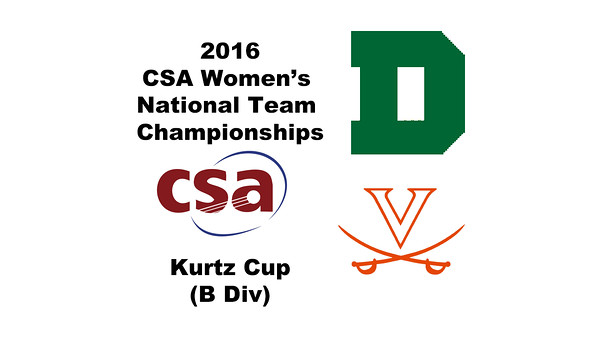 2016 CSA Team Championships -  Kurtz Cup: Victoria Dewey (Dartmouth) and Diane Tyson (Virginia)