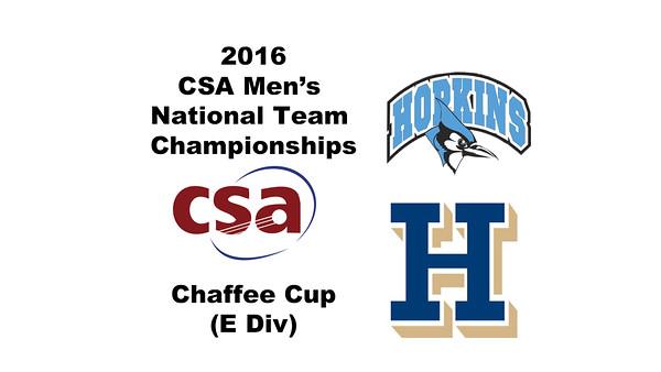 2016 CSA Team Championships - Chaffee Cup: Tucker Hamlin (Hamilton) and Luca Pinelli (Johns Hopkins)