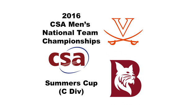 2016 CSA Team Championships -  Summers Cup: Coley Cannon (Bates) and Killian Bubrosky (Virginia)