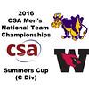 2016 CSA Team Championships -  Summers Cup: Jamie Ruggiero (Williams) and Guy Davidson (Wesleyan)