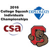 2016 CSA Individual Championships - Holleran Cup: Charlotte Knaggs (Cornell) and Sherilyn Yang (F&M)