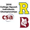 2016 CSA Individual Championships - Pool Trophy: Ahmed Abdel Khalek (Bates) and Ryosei Kobayashi (Rochester) - Game 1
