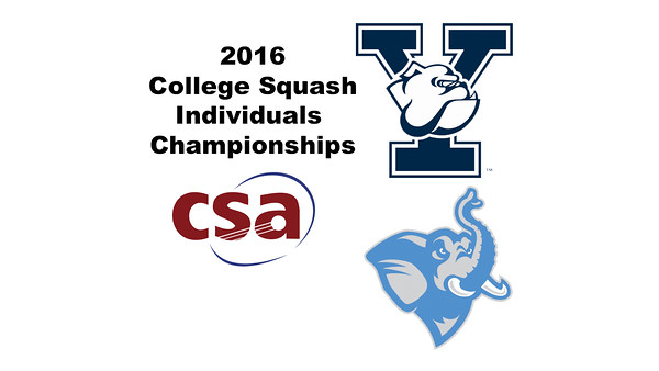 2016 CSA Individual Championships - Molloy Cup:  Kah Wah Cheong (Yale) and Aidan Porges (Tufts)