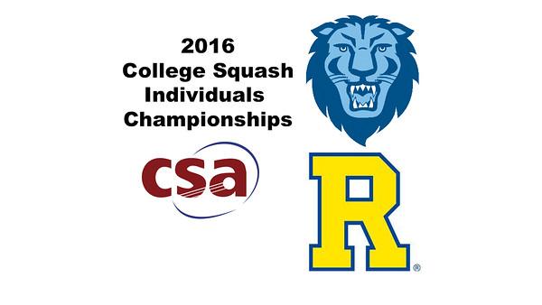 2016 CSA Individual Championships - Pool Trophy: Mario Yanez (Rochester) and Osama Khalifa (Columbia)