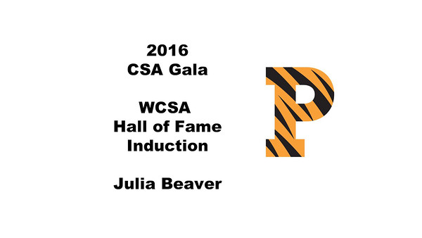 WCSA Hall of Fame Induction - Julia Beaver