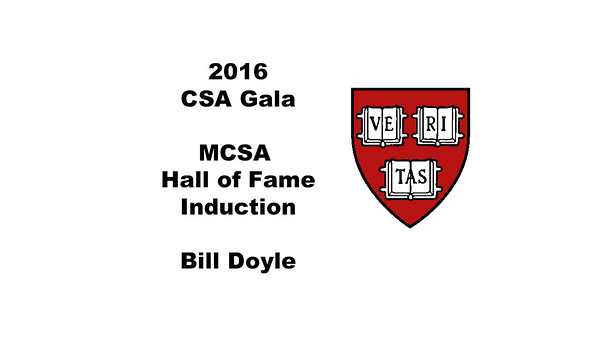 MCSA Hall of Fame Induction - Bill Doyle
