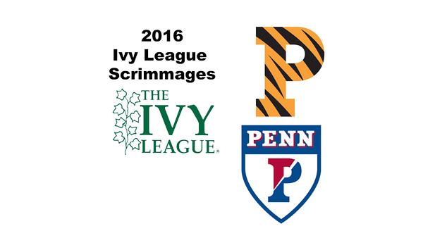 2016 Ivy League Scrimmages: Clark Doyle (Princeton) and Derek Hsue (Penn)