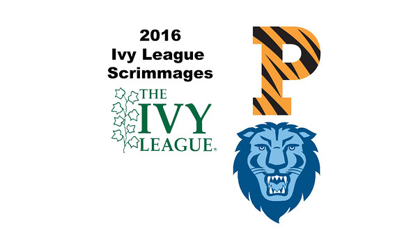2016 Ivy League Scrimmages: Camille Price (Princeton) and Diana Masch (Columbia)