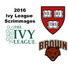 2016 Ivy League Scrimmages:  Scarlett Bergam (Brown) and Sophie Mehta (Harvard)
