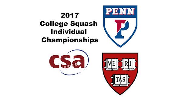 2017 CSA Individual Championships - Ramsay Cup Final: Georgina Kennedy (Harvard) and Reeham Sedky (Penn)