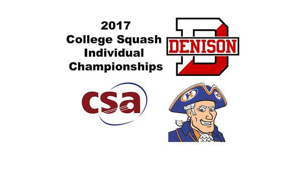 2017 CSA Individual Championships - Molloy Cup: Ziad Elmandouh (Denison) and Terrance Rose (Hobart)