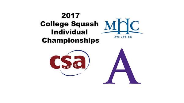 2017 CSA Individual Championships - Holleran Cup: Nadindhi Udangawa (Mount Holyoke) and Kim Krayacich (Amherst)