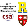 2017 CSA Individual Championships - Pool Trophy: Mario Yanez (Rochester) and Ahmed Bayoumy (St. Lawrence)