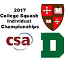 2017 CSA Individual Championships - Pool Trophy: Mohamed El Gawarhy (St. Lawrence) and Alvin Heumann (Dartmouth)