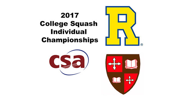 2017 CSA Individual Championships - Pool Trophy: Mario Yanez (Rochester) and Mohamed El Gawarhy (St. Lawrence)