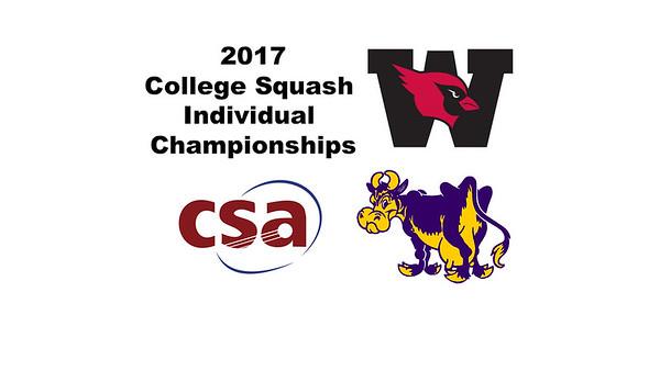 2017 CSA Individual Championships - Molloy Cup: Jamie Ruggiero (Williams) and David Sneed (Wesleyan)