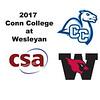 2017 Conn College at Wesleyan: John Dunham (Conn College) and Jackson Rubinoff (Wesleyan)