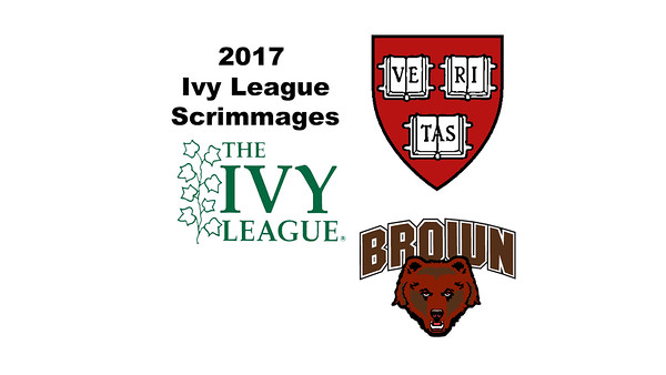 2017 Ivy League Scrimmages: Hannah Craig (Harvard) and Hannah Safford (Brown)