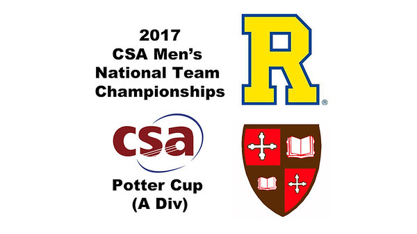 2017 MCSA Team Championships - Potter Cup: Lenard Puski (St. Lawrence) and Matthew Toth (Rochester)