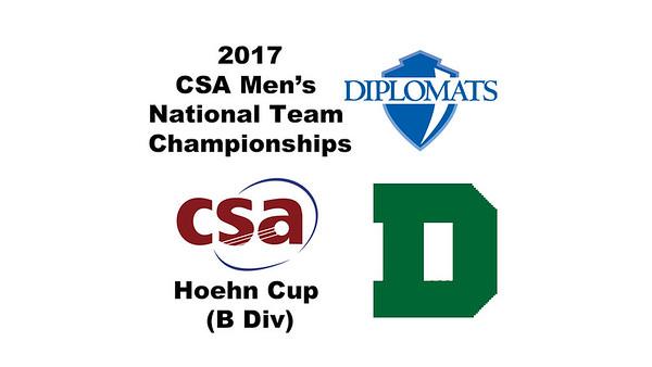 2017 MCSA Team Championships - Hoehn Cup: Brian Giegerich (Dartmouth) and Karim Abd El Mawla (Franklin & Marshall)