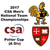 2017 MCSA Team Championships - Potter Cup: Belal Nawar (St. Lawrence) and Tom De Mulder (Trinity)