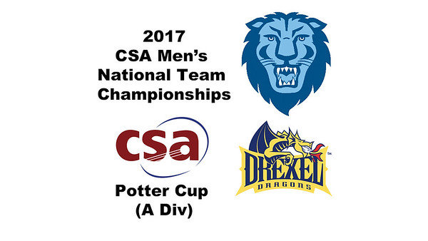 2017 MCSA Team Championships - Potter Cup: Robin Singh Mann(Columbia) and Mostafa Aboul Makarim (Drexel)