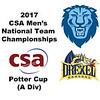 2017 MCSA Team Championships - Potter Cup: Robin Singh Mann(Columbia) and Mostafa Aboul Makarim (Drexel)