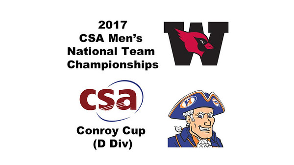 2017 MCSA Team Championships - Conroy Cup: Zach Roach (Wesleyan) and Terrance Rose (Hobart)