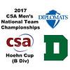 2017 MCSA Team Championships - Hoehn Cup: Alvin Heumann (Dartmouth) and Cole Osborne (Franklin & Marshall)