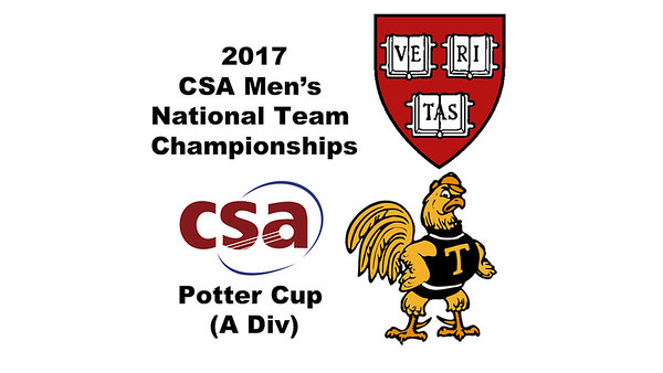 2017 MCSA Team Championships - Potter Cup: Saadeldin Abouaish (Harvard) and Kush Kumar (Trinity)