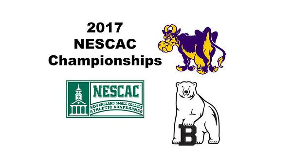2017 NESCAC Championships: Esther Baek (Williams) and Lindsey Bindra (Bowdoin)