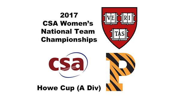 2017 WCSA Team Championships - Howe Cup: Sabrina Sobhy (Harvard) and Olivia Fiechter (Princeton)