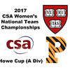 2017 WCSA Team Championships - Howe Cup: Sabrina Sobhy (Harvard) and Olivia Fiechter (Princeton)