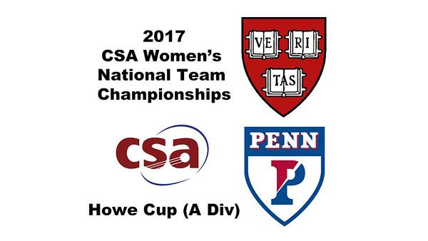 2017 WCSA Team Championships - Howe Cup: Kayley Leonard (Harvard) and Marie Stephan (Penn)