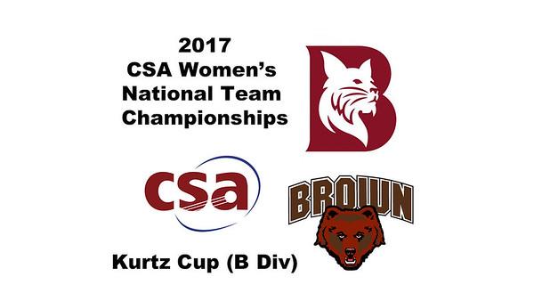 2017 WCSA Team Championships - Kurtz Cup: Hannah Hay-Smith (Brown) andVictoria Arjoon (Bates)