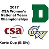 2017 WCSA Team Championships - Kurtz Cup: Engy Elmandouh (George Washington) and Anne Blasberg (Dartmouth)