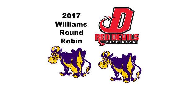 2017 Williams Round Robin: Ananya Mahalingam-Dhingra (Williams) and Jaime-Leigh Edghill (Dickinson)
